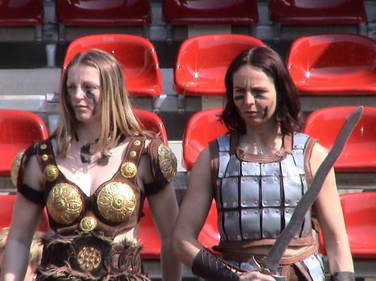 Costume gladiateur femme